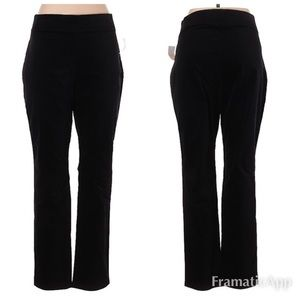 NWT THE LIMITED Black Velour Pull On Pants SZ L